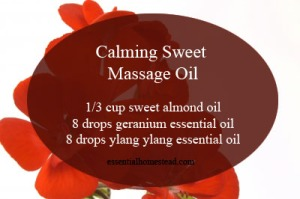 Calming Sweet Massage Oil Recipe